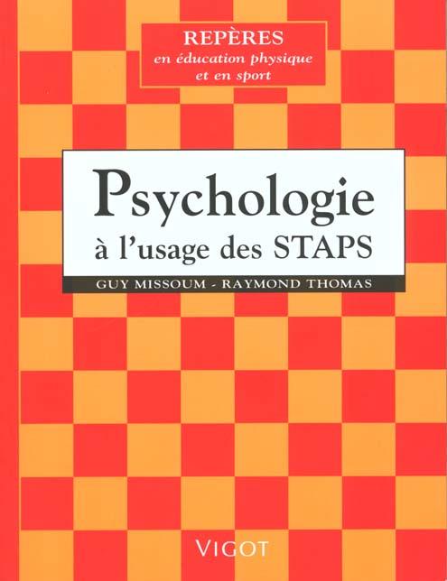 PSYCHOLOGIE A L'USAGE DES STAPS