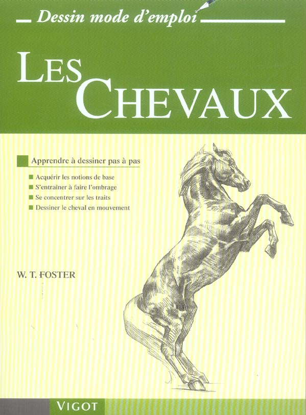 LES CHEVAUX - APPRENDRE A DESSINER PAS A PAS : ACQUERIR LES NOTIONS DE BASE, S'ENTRAINER A FAIRE L'O