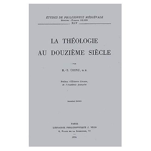 LA THEOLOGIE AU XIIE SIECLE