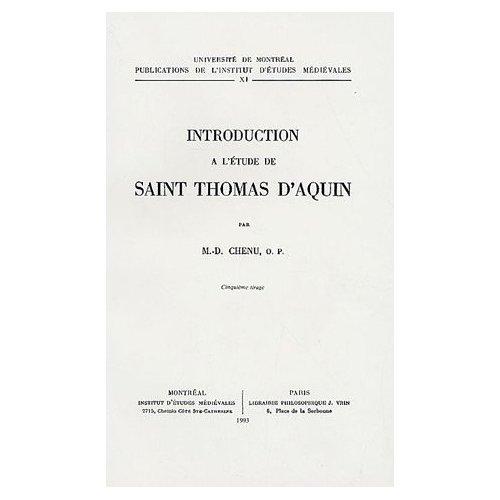 INTRODUCTION A L ETUDE DE SAINT THOMAS D AQUIN