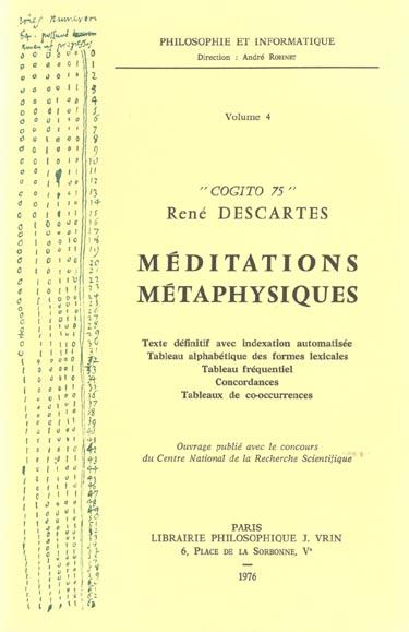 COGITO 75  MEDITATIONS METAPHYSIQUES