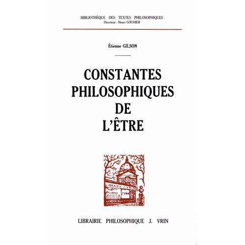 CONSTANTES PHILOSOPHIQUES DE L'ETRE