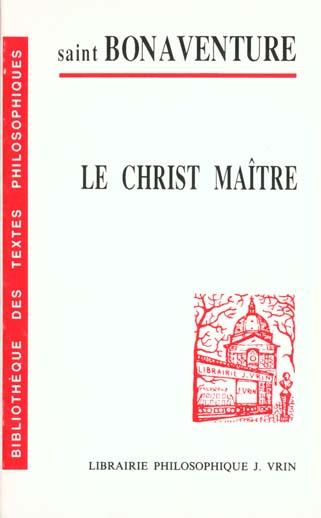 LE CHRIST MAITRE