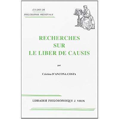 RECHERCHES SUR LE LIBER DE CAUSIS