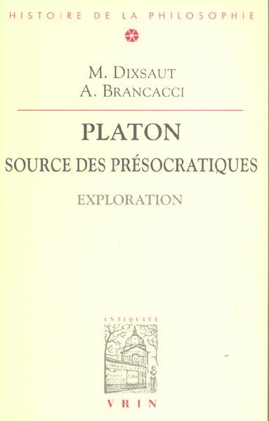 PLATON SOURCE DES PRESOCRATIQUES