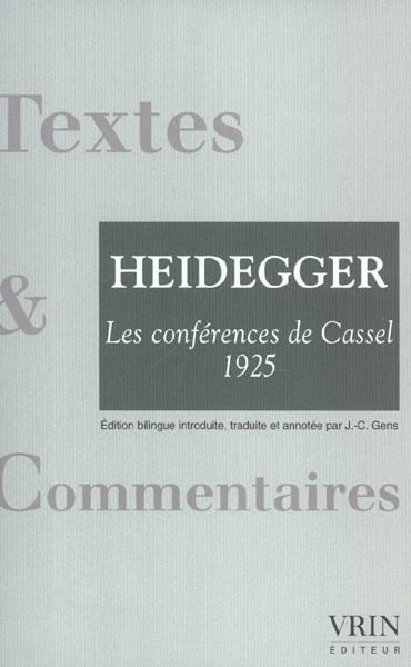 LES CONFERENCES DE CASSEL (1925) AVEC LA CORRESPONDANCE HUSSERL-DILTHEY