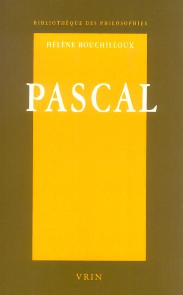 PASCAL LA FORCE DE LA RAISON