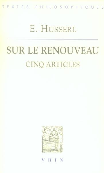 SUR LE RENOUVEAU CINQ ARTICLES