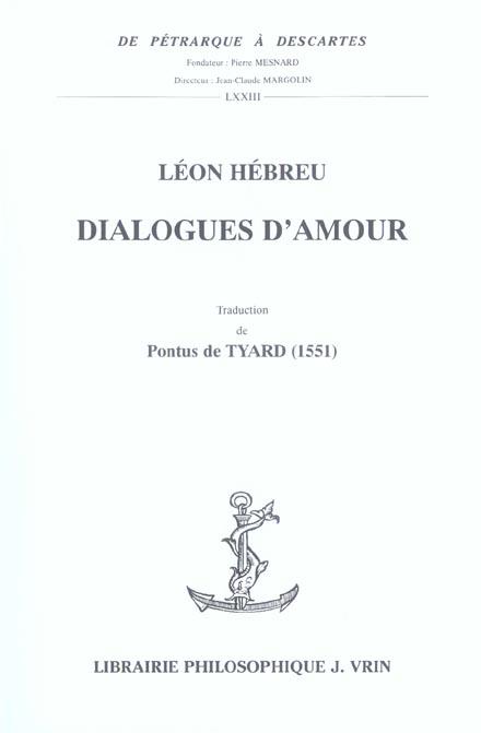 DIALOGUES D'AMOUR