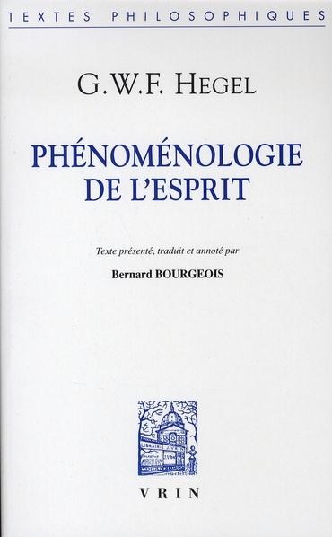 PHENOMENOLOGIE DE L ESPRIT (BROCHE)