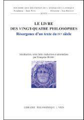 LE LIVRE DES VINGT-QUATRE PHILOSOPHES