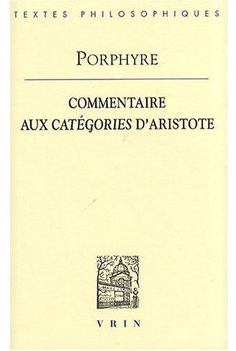 COMMENTAIRE AUX CATEGORIES D ARISTOTE