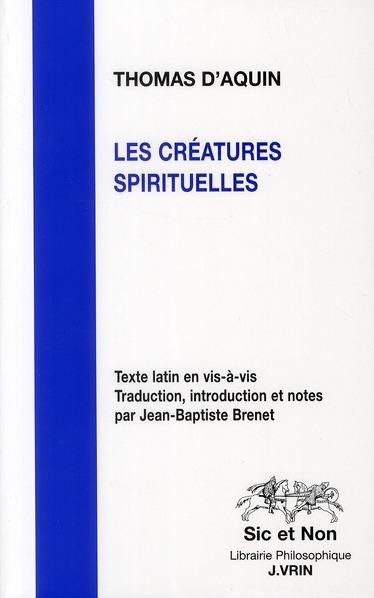 LES CREATURES SPIRITUELLES