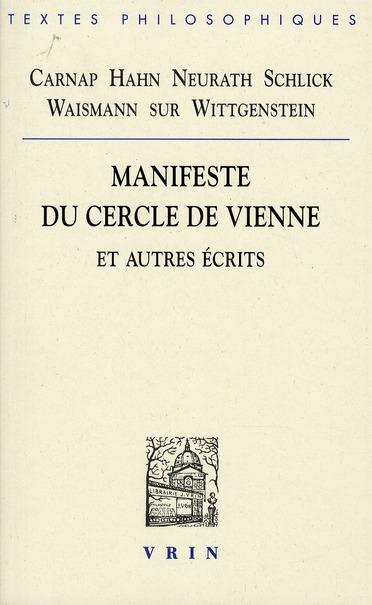 MANIFESTE DU CERCLE DE VIENNE ET AUTRES ECRITS