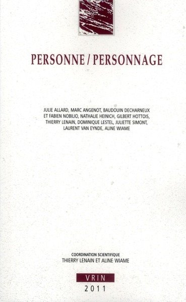 PERSONNE / PERSONNAGE