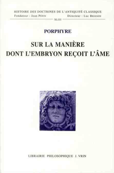 SUR LA MANIERE DONT L EMBRYON RECOIT L AME