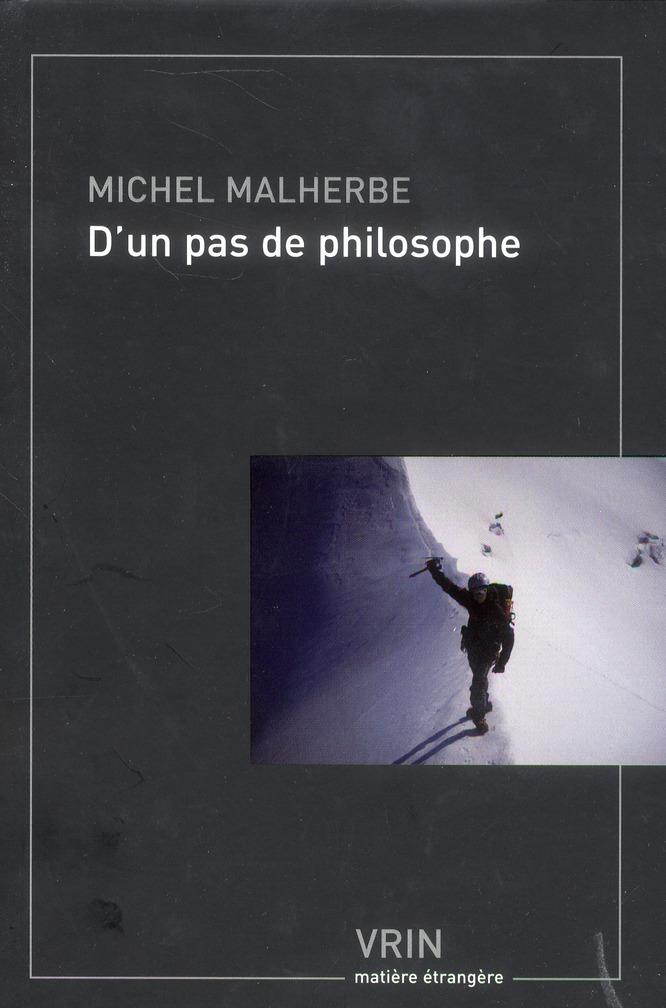 D UN PAS DE PHILOSOPHE