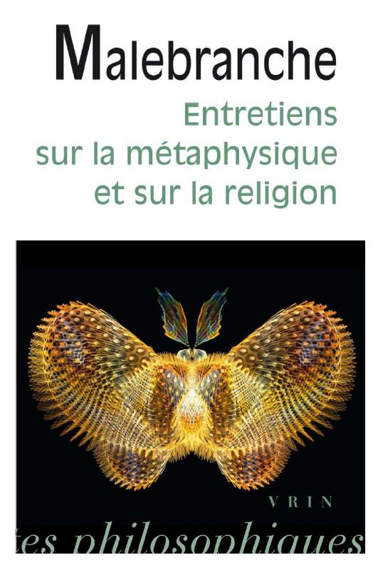 ENTRETIENS SUR LA METAPHYSIQUE ET SUR LA RELIGION