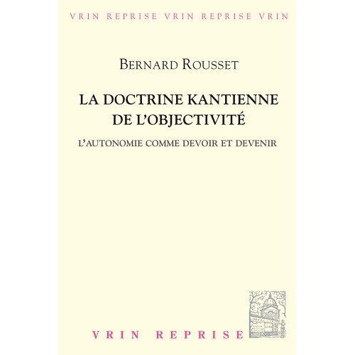 LA DOCTRINE KANTIENNE DE L OBJECTIVITE