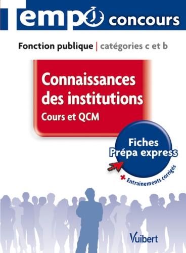 CONNAISSANCES DES INSTITUTIONS