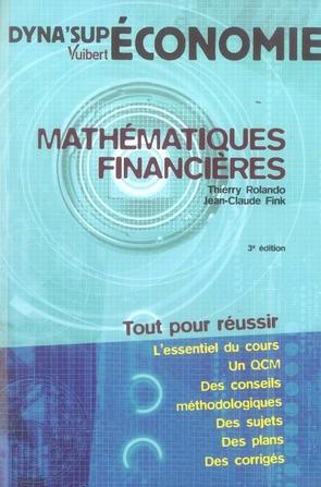 MATHEMATIQUES FINANCIERES 3E EDITION