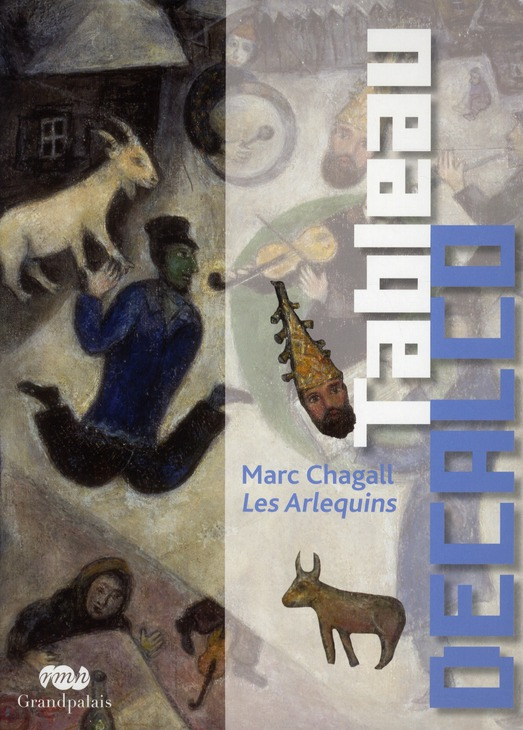 MARC CHAGALL LES ARLEQUINS - TABLEAU DECALCO