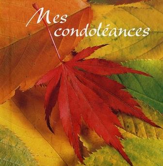 MES CONDOLEANCES
