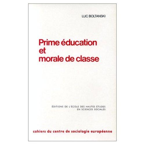 PRIME EDUCATION ET MORALE DE CLASSE