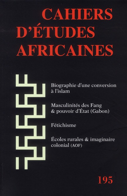 CAHIERS D'ETUDES AFRICAINES 195