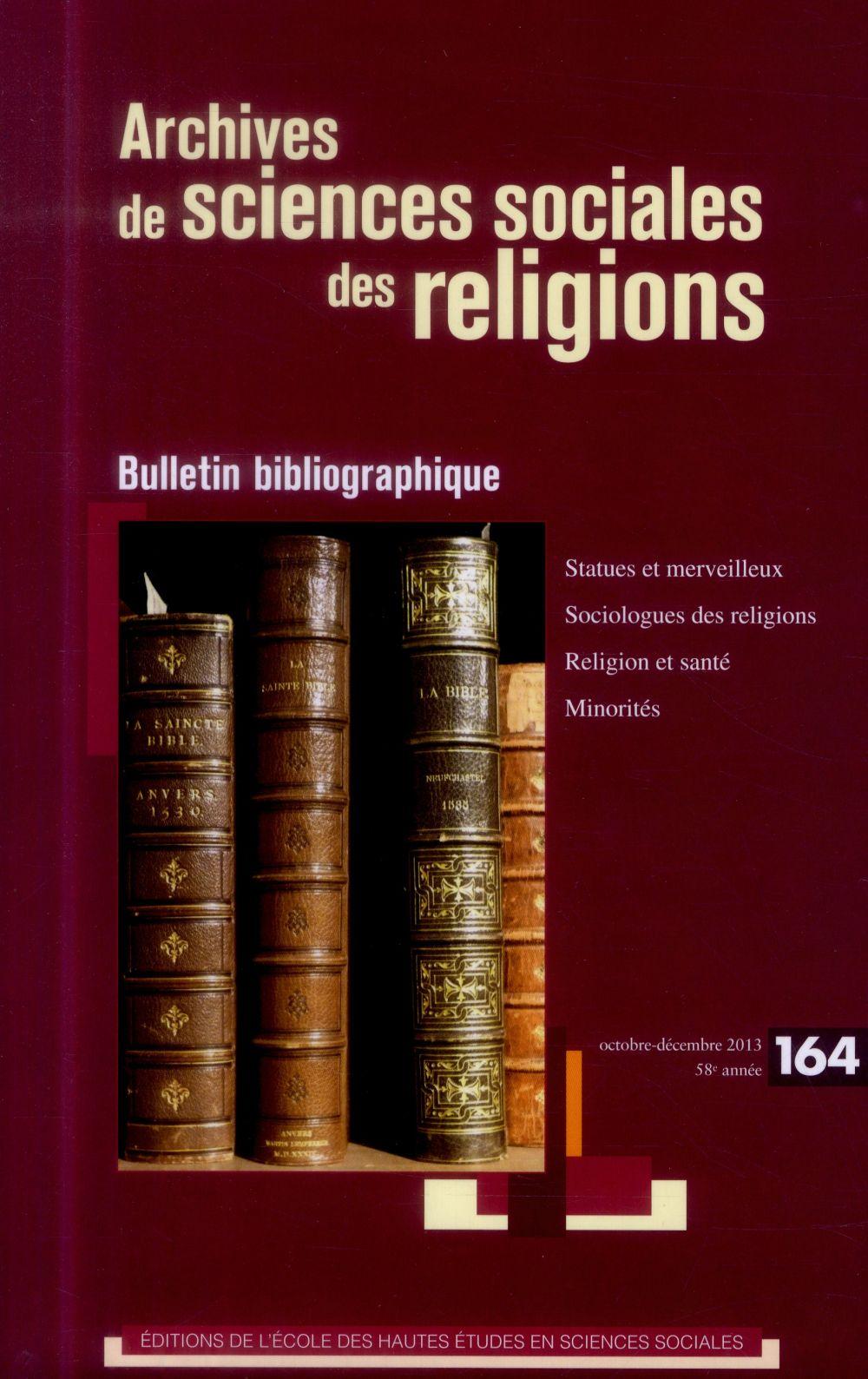ARCHIVES DE SCIENES SOCIALES DES RELIGIONS 164