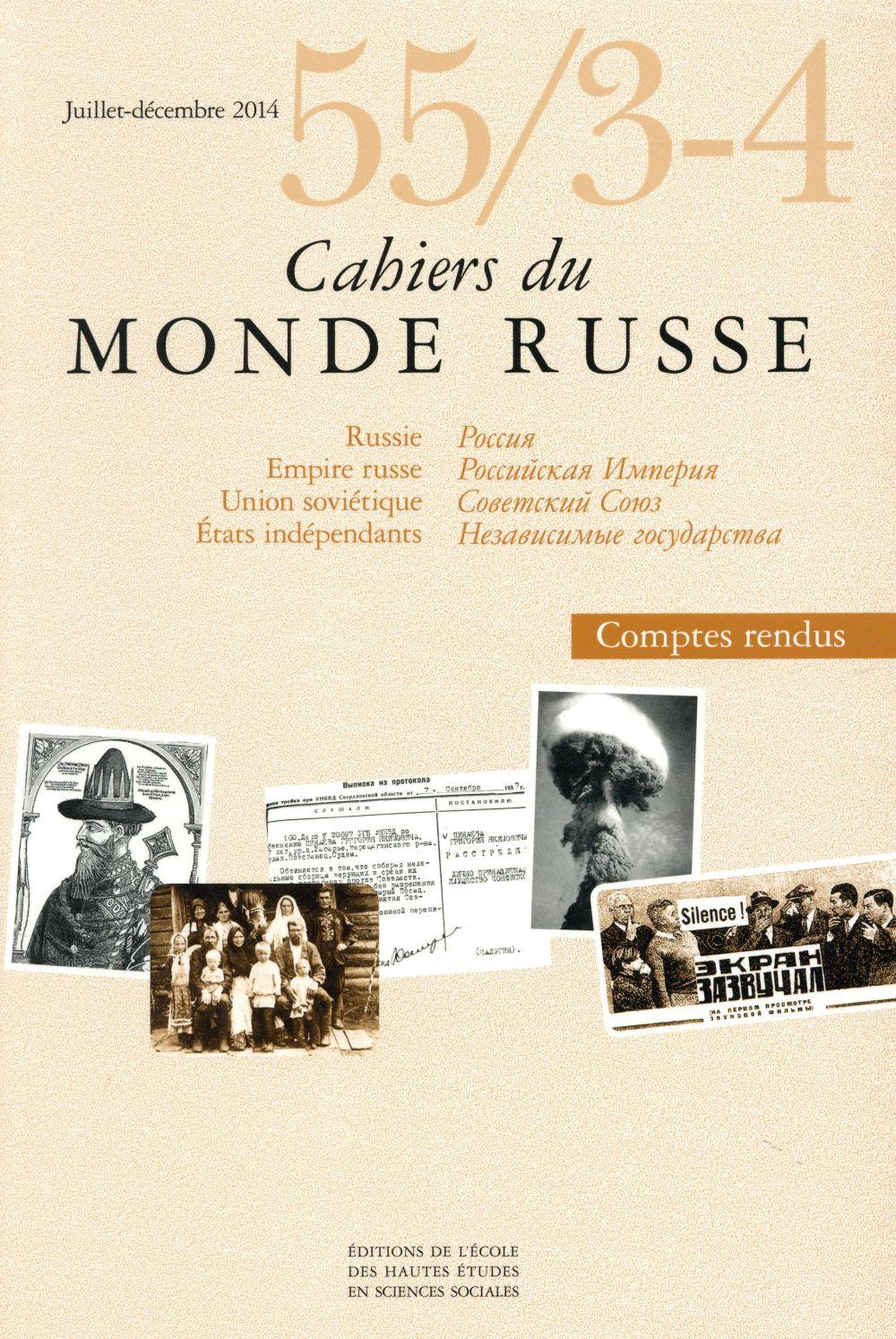 CAHIERS DU MONDE RUSSE 55 3 4