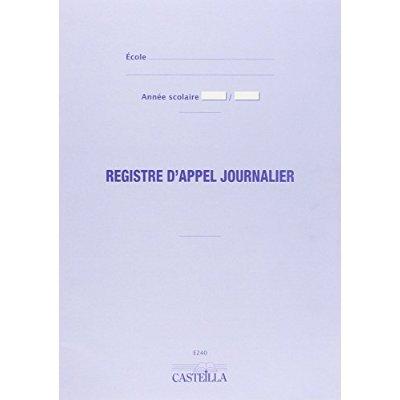 REGISTRE D'APPEL 40 ELEVES E2