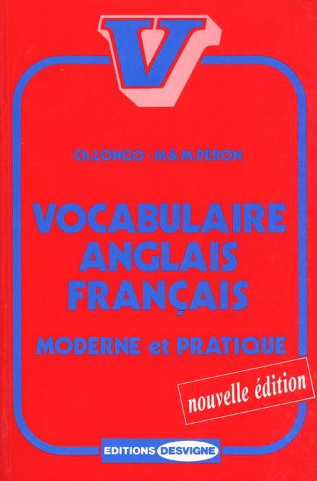 VOCABULAIRE ANGLAIS FRANCAIS
