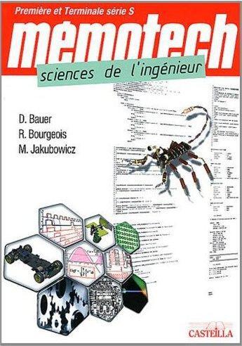 MEMOTECH SCIENCES DE L'INGENIEUR 1ERE TLE S