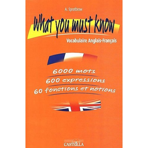 WHAT YOU MUST KNOW - VOCABULAIRE ANGLAIS FRANCAIS