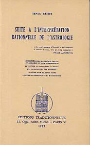 SUITE A L'INTERPRETATION RATIONNELLE DE L'ASTROLOGIE