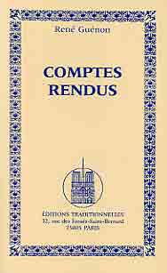 COMPTES-RENDUS /  RENE GUENON