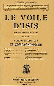 VOILE D'ISIS (LE), AVRIL 1934 : SPECIAL COMPAGNONNAGE