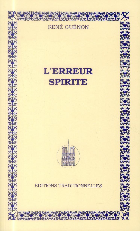ERREUR SPIRITE (L')