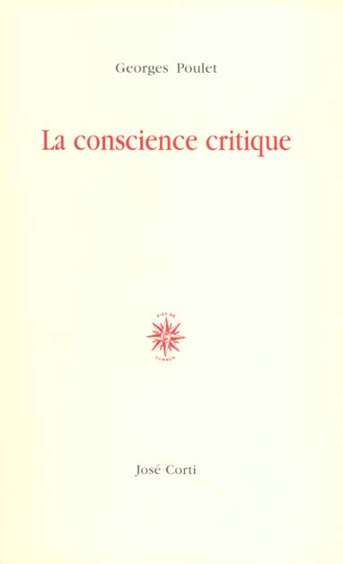 LA CONSCIENCE CRITIQUE