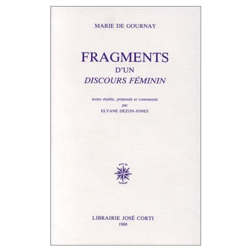 FRAGMENT D UN DISCOURS FEMININ