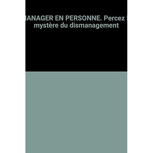 MANAGER EN PERSONNE