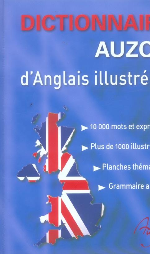 DICTIONNAIRE AUZOU D'ANGLAIS ILLUSTRE - 10000 MOTS ET EXPRESSIONS, PLUS DE 1000 ILLUSTRATIONS, PLANC