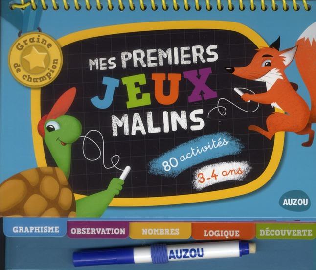 MES PREMIERS JEUX MALINS 3-4 ANS (GRAINES DE CHAMPION)