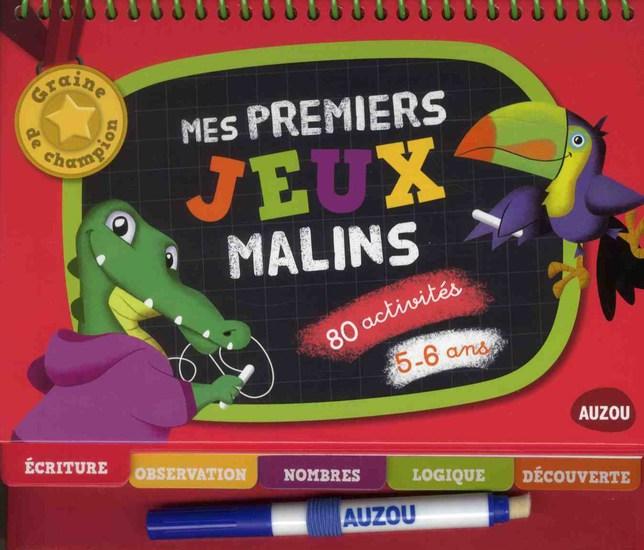 MES PREMIERS JEUX MALINS 5-6 ANS (GRAINES DE CHAMPION)