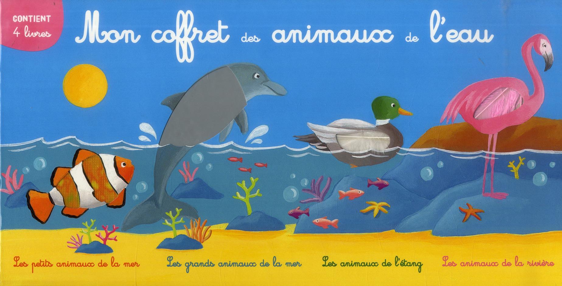 MON COFFRET DES ANIMAUX DE L'EAU (4 TITRES)