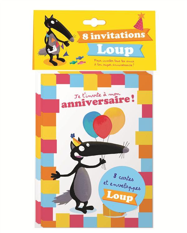 PACK DE 8 CARTES D'ANNIVERSAIRE LOUP