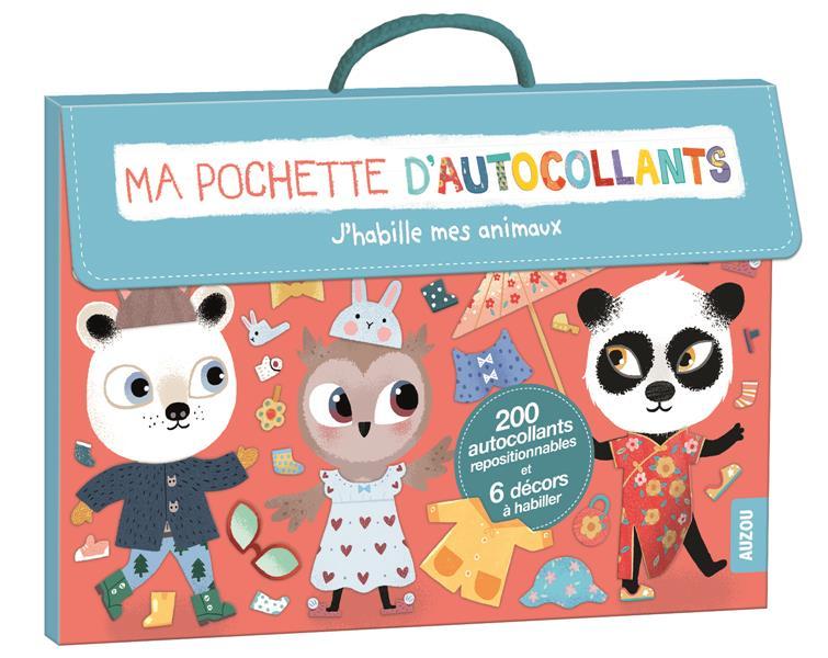 MA POCHETTE D'AUTOCOLLANTS - J'HABILLE MES ANIMAUX (COLL. MA POCHETTE D'ARTISTE)