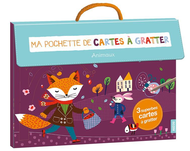 MA POCHETTE DE CARTES A GRATTER - ANIMAUX (COLL. MA POCHETTE D'ARTISTE)