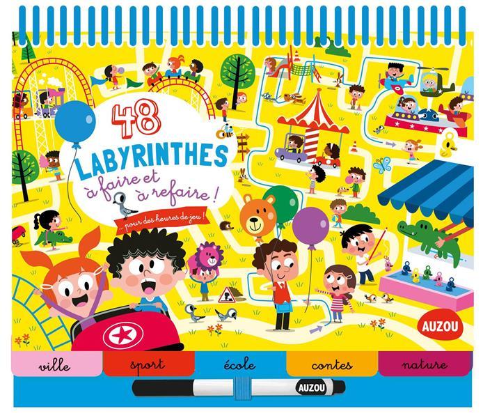 BLOC-NOTES - 48 LABYRINTHES A FAIRE ET A REFAIRE ! - NOUVELLE EDITION